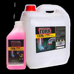 Гель для прочистки канализационных труб «TORR»